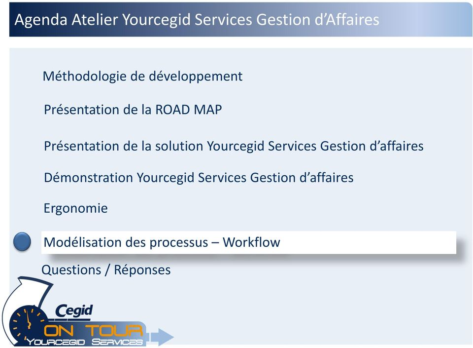 Yourcegid Services Gestion d affaires Démonstration Yourcegid Services