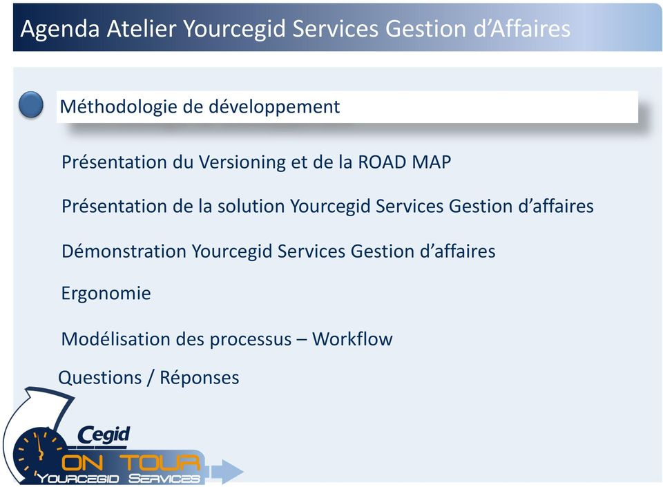 solution Yourcegid Services Gestion d affaires Démonstration Yourcegid