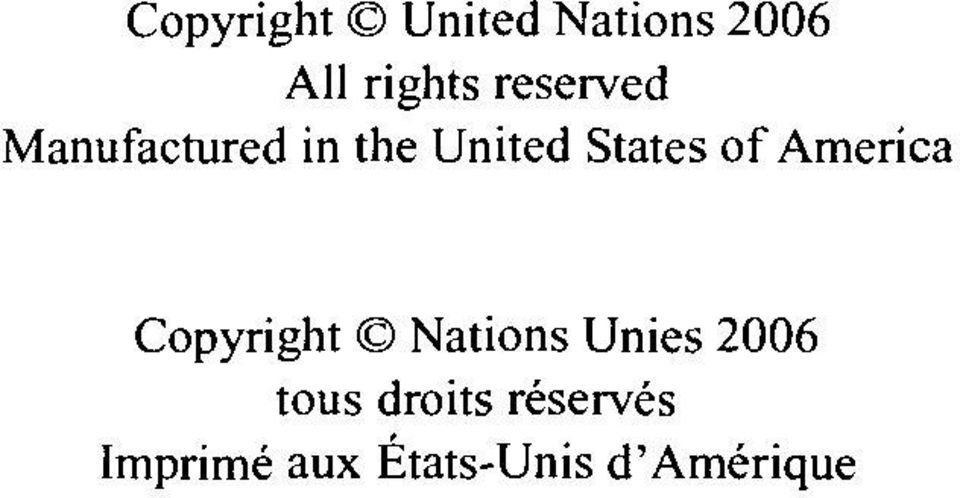 of America Copyright Nations Unies 2006 tous