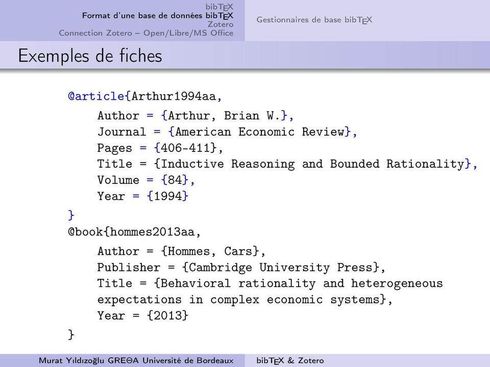 Rationality}, Volume = {84}, Year = {1994} } @book{hommes2013aa, Author = {Hommes, Cars}, Publisher = {Cambridge