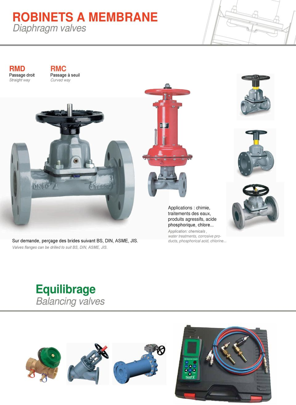 Valves flanges can be drilled to suit BS, DIN, ASME, JIS.