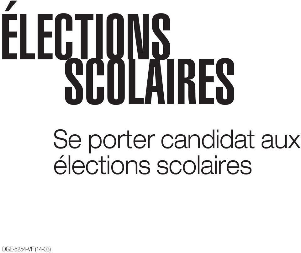 porter candidat