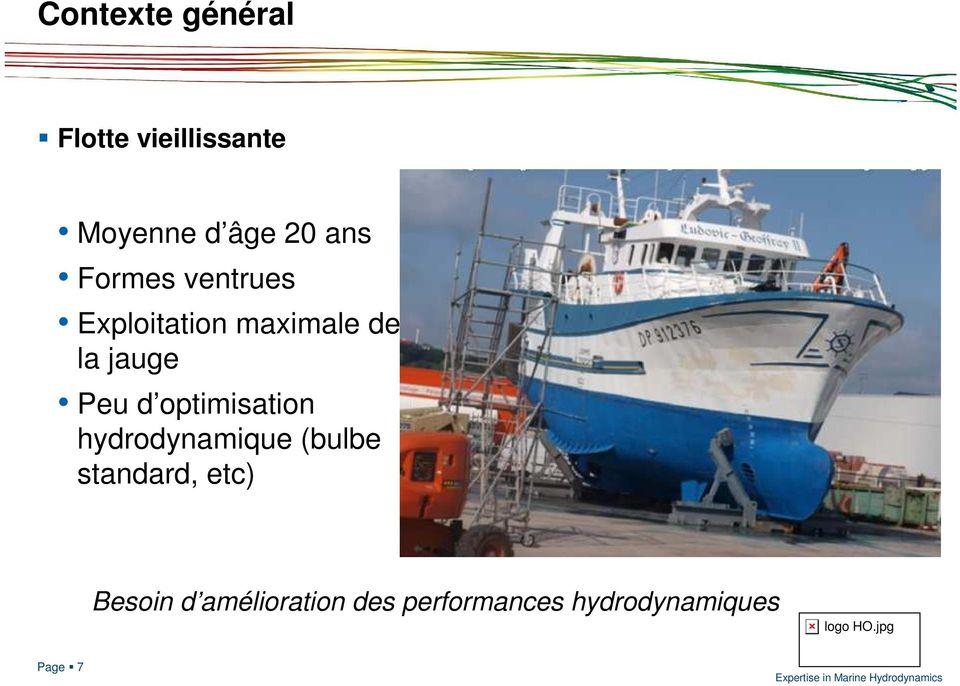 Peu d optimisation hydrodynamique (bulbe standard, etc)