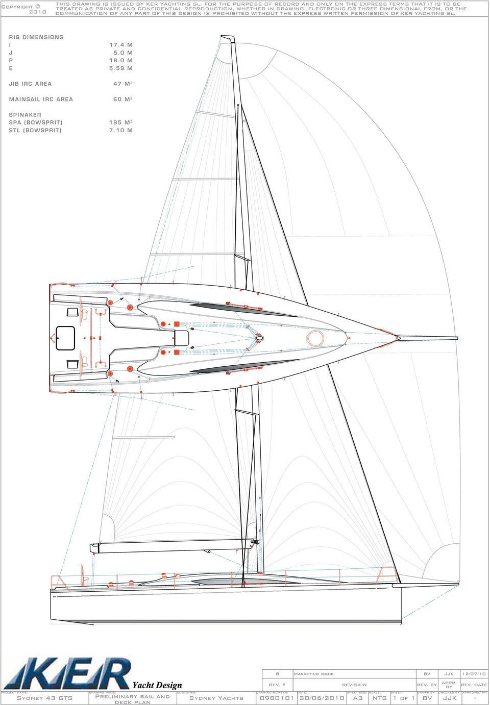 59 M JIB IRC AREA 47 M 2 MAINSAIL