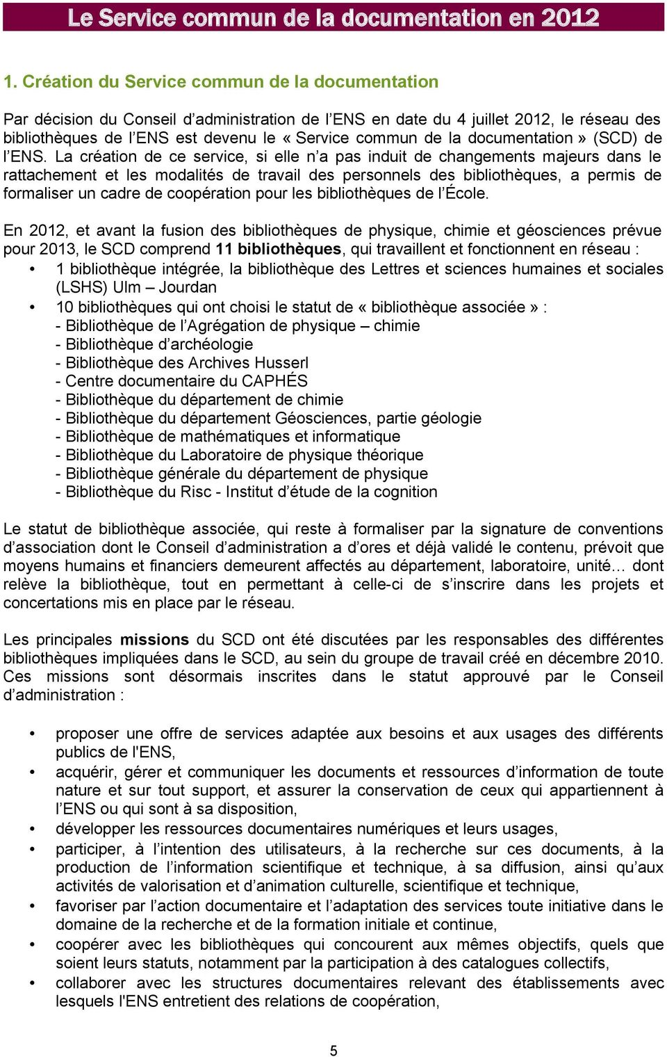 documentation» (SCD) de l ENS.