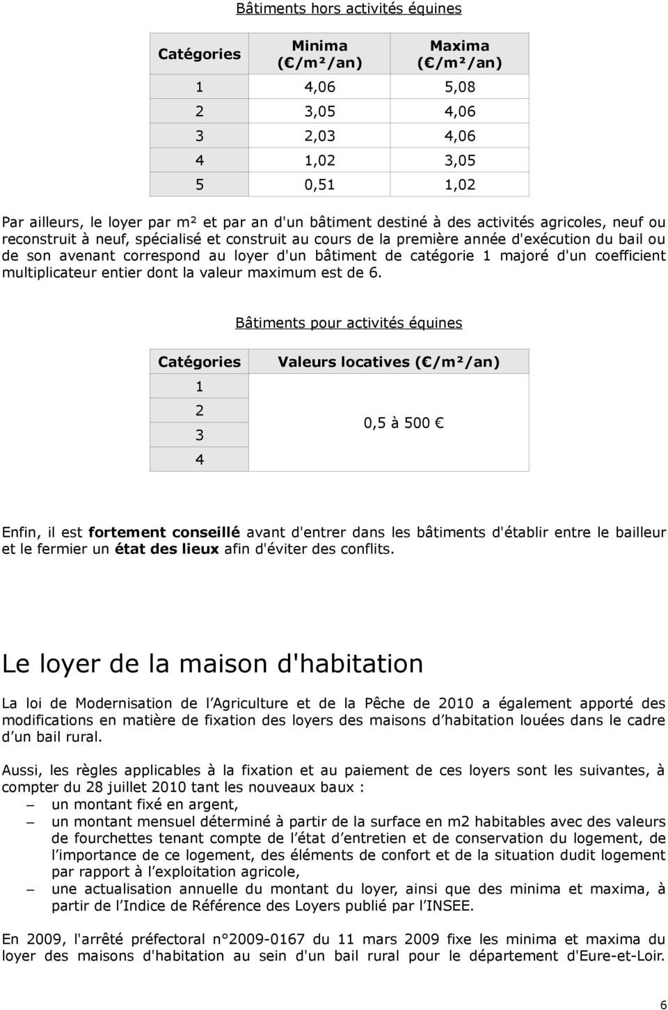 majoré d'un coefficient multiplicateur entier dont la valeur maximum est de 6.