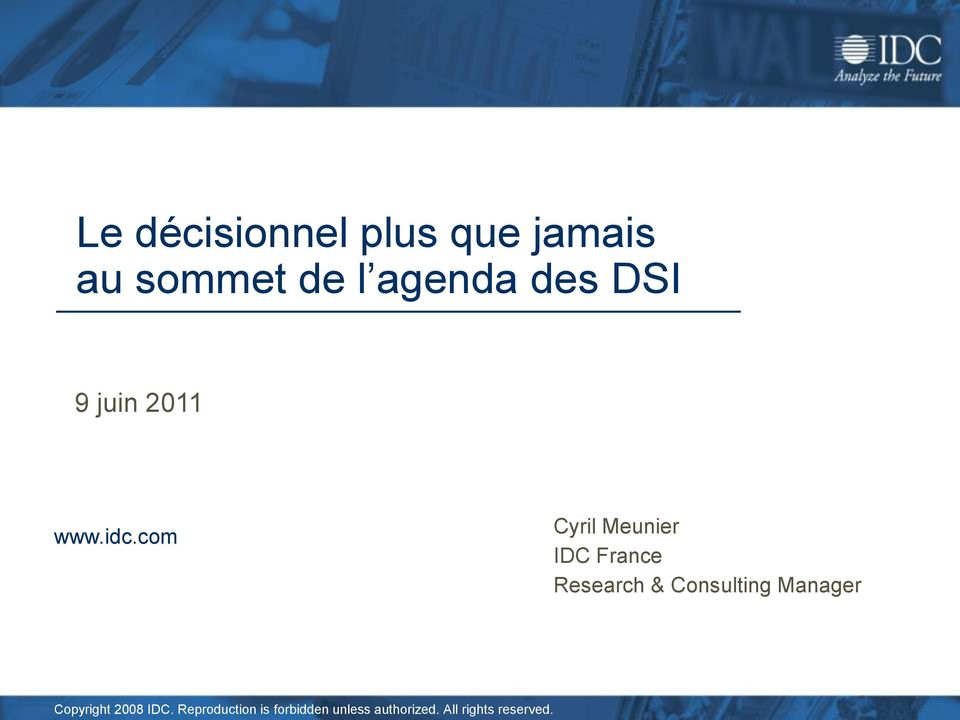 com Cyril Meunier IDC France Research & Consulting