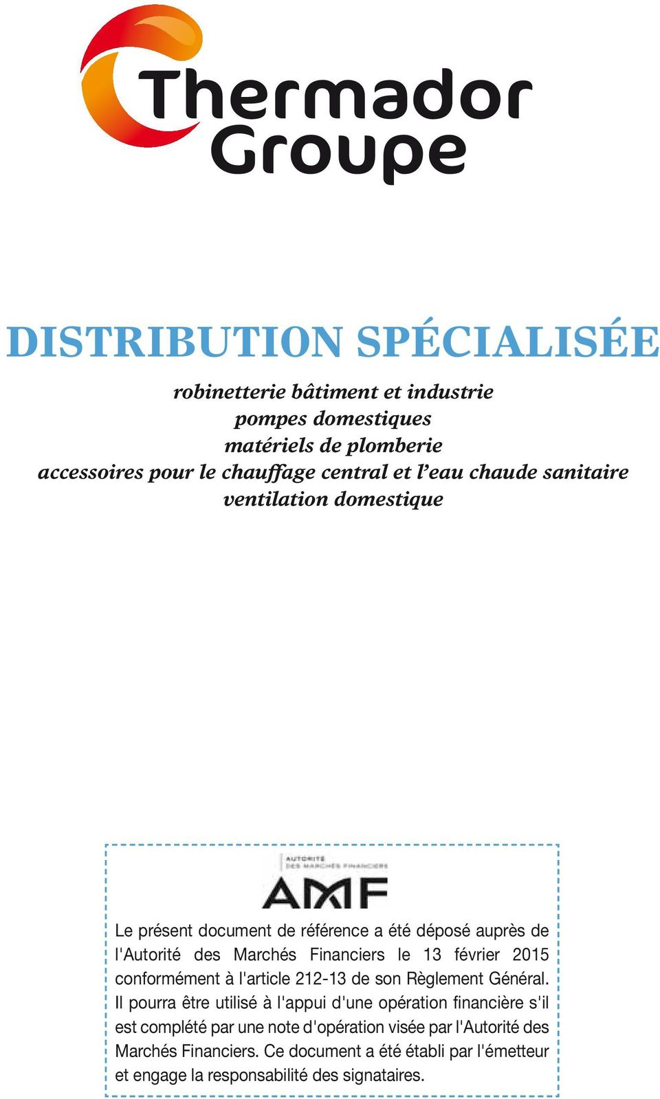 Distribution specialisee