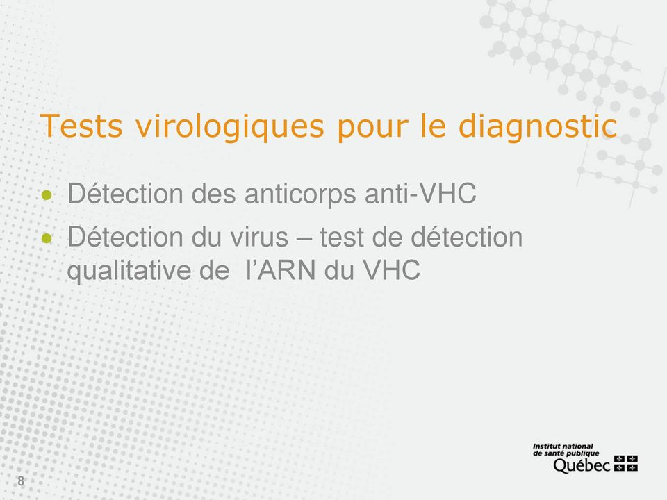 anti-vhc Détection du virus test