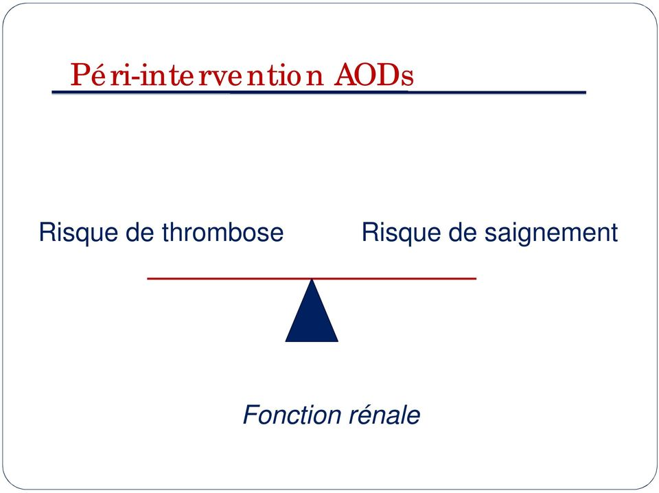 thrombose Risque de