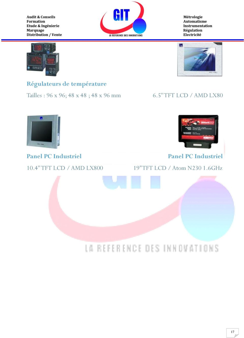 5'' TFT LCD / AMD LX80 Panel PC Industriel 10.