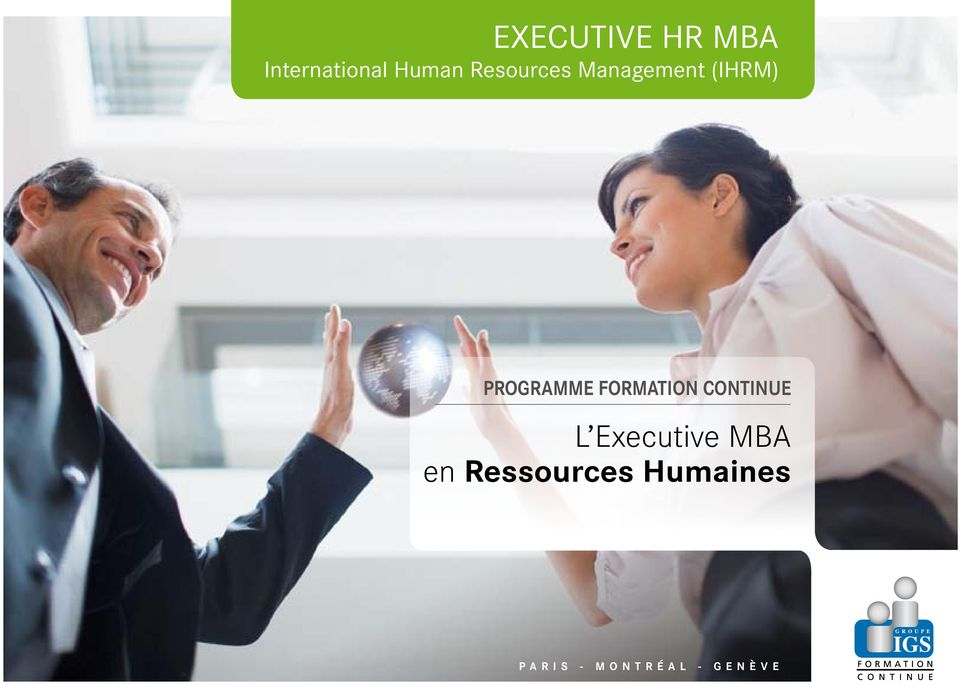 Formation Continue L Executive MBA en