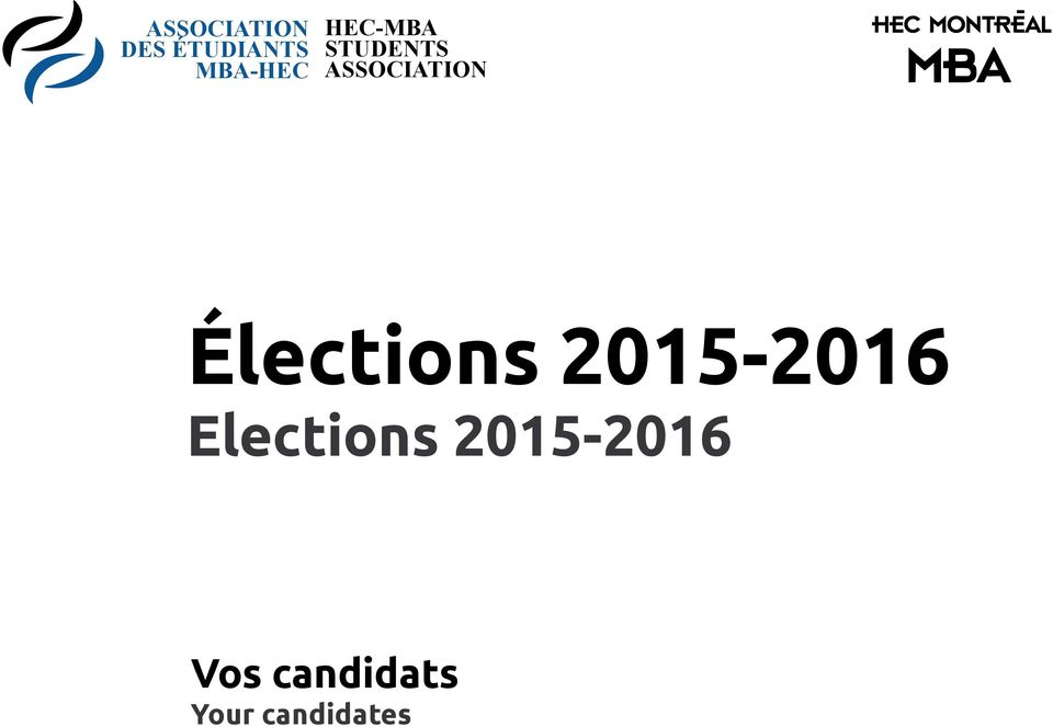 ASSOCIATION Élections 2015-2016
