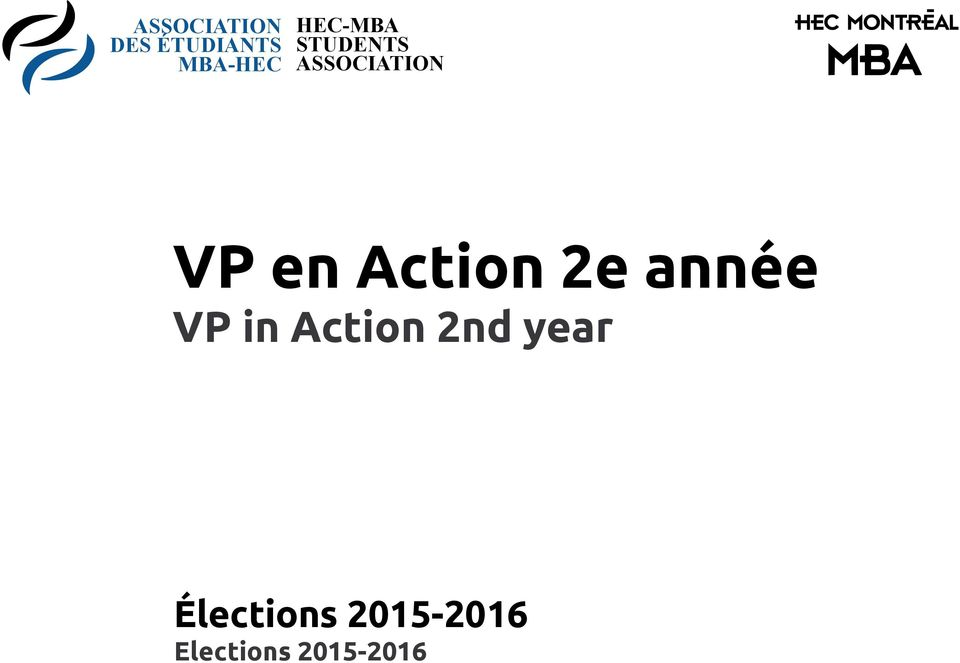 Action 2e année VP in Action 2nd