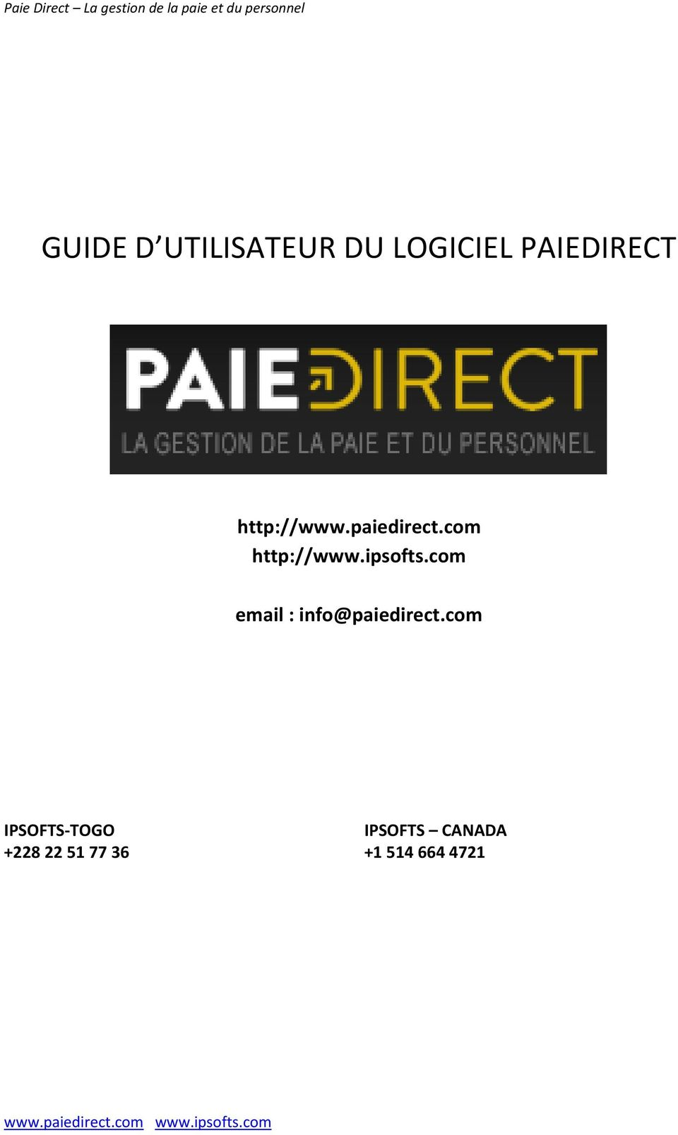 com email : info@paiedirect.