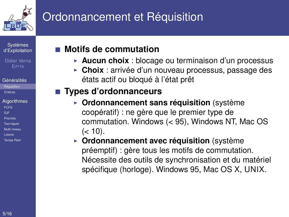 ne gère que le premier type de commutation. Windows (< 95), Windows NT, Mac OS (< 10).