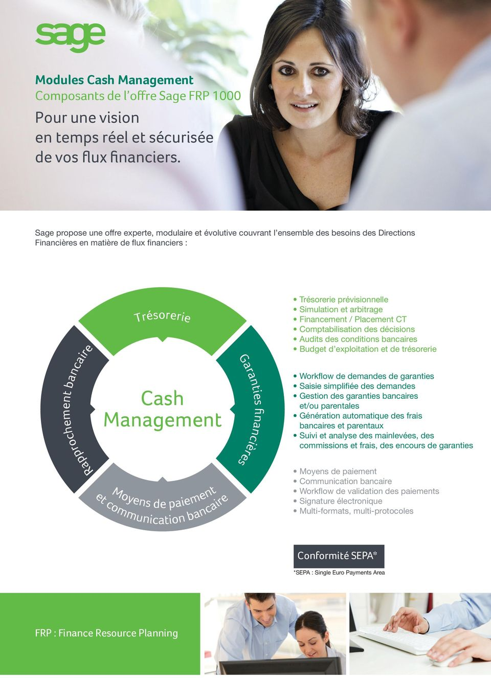 Moyens de paiement et communication bancaire inancières Garanties fi Trésorerie prévisionnelle Simulation et arbitrage Financement / Placement CT Comptabilisation des décisions Audits des conditions