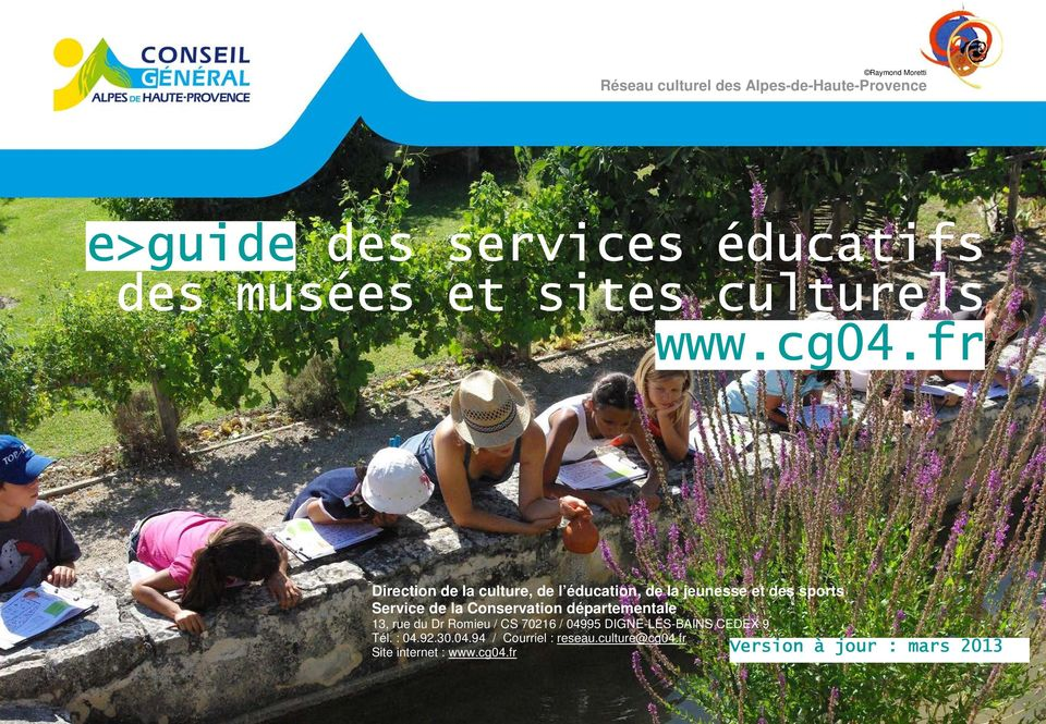 fr Direction de la culture, de l éducation, de la jeunesse et des sports Service de la Conservation