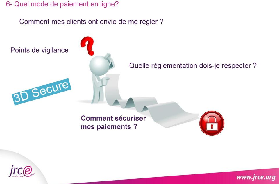 Points de vigilance Quelle réglementation