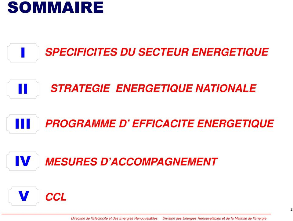 NATIONALE III PROGRAMME D EFFICACITE