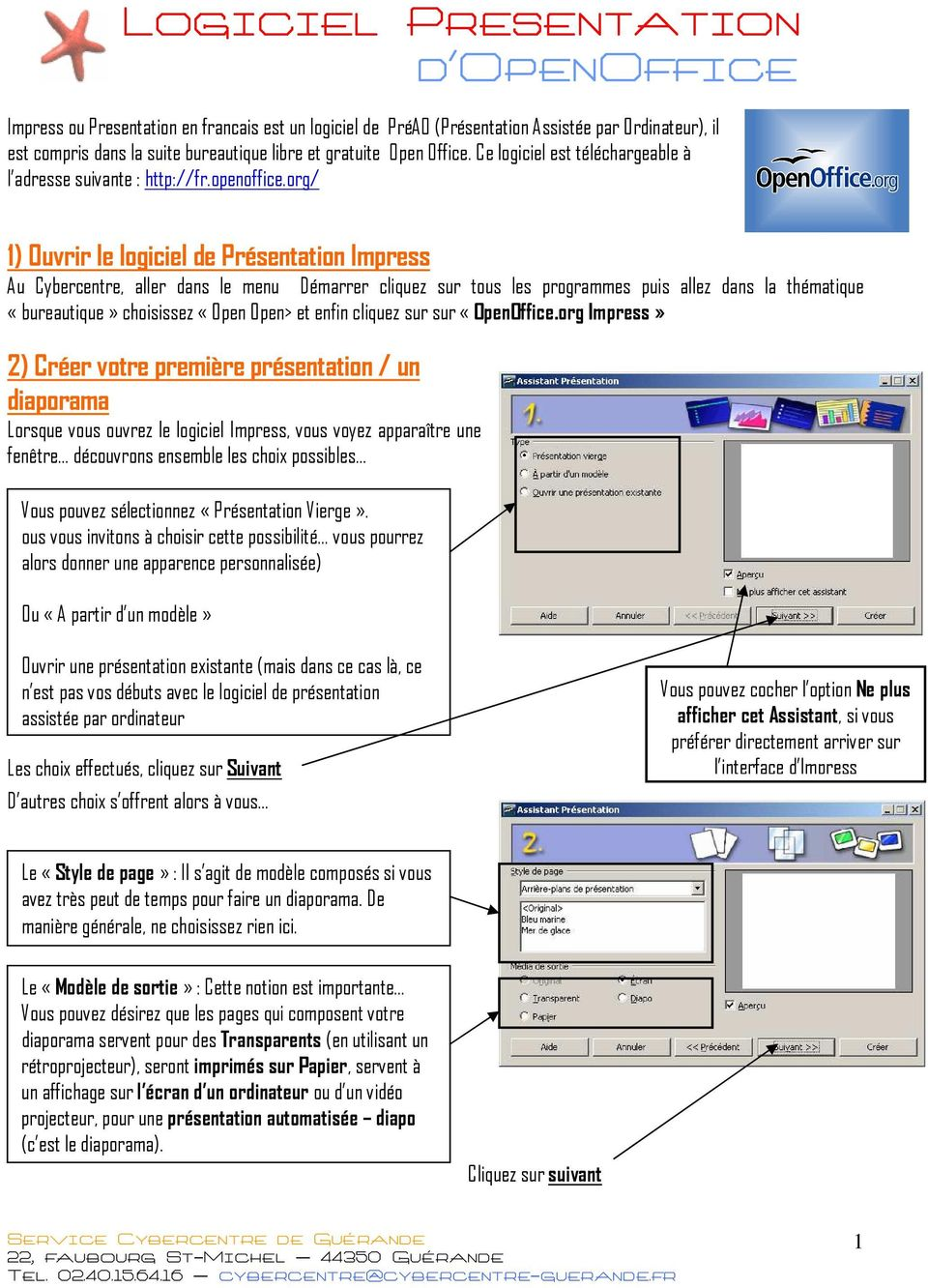 Logiciel presentation d openoffice pdf - Comment faire un diaporama sur open office ...