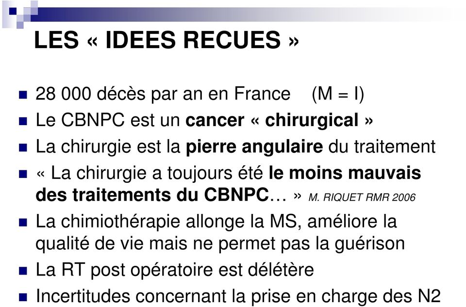 traitements du CBNPC» M.