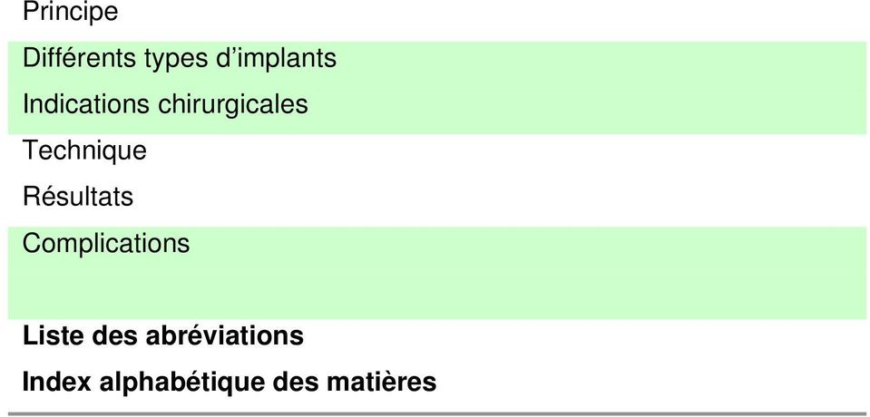 Technique Complications Liste des