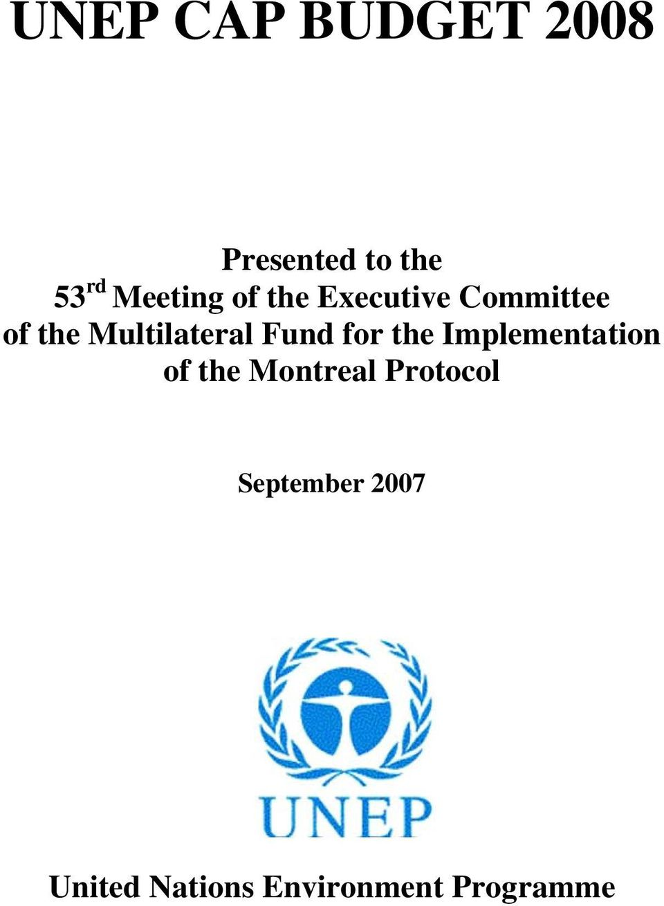 Multilateral Fund for the Implementation of the