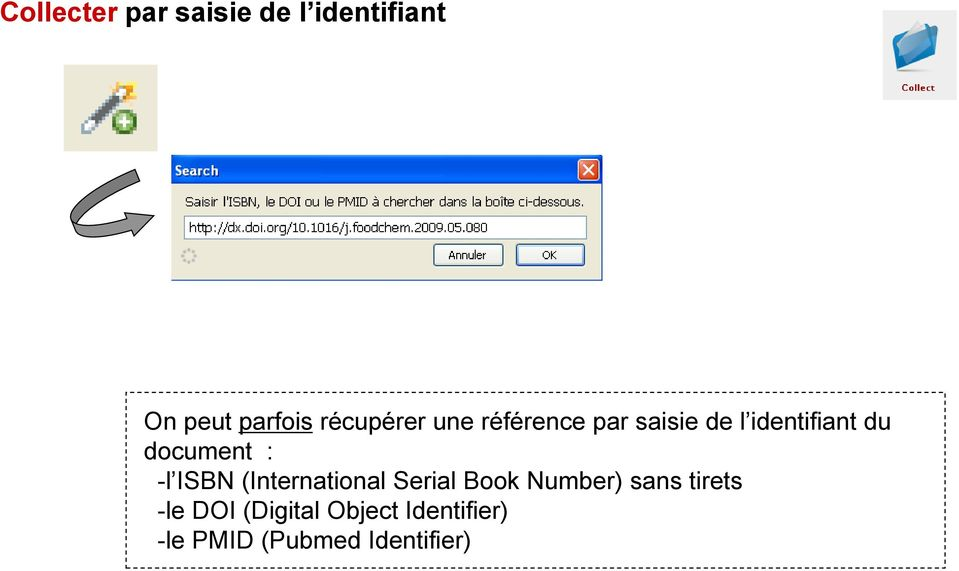 document : -l ISBN (International Serial Book Number) sans