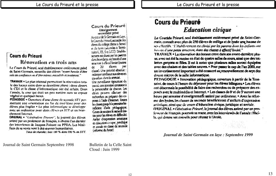 Septembre 1999 Jurnal de Saint Germain Septembre