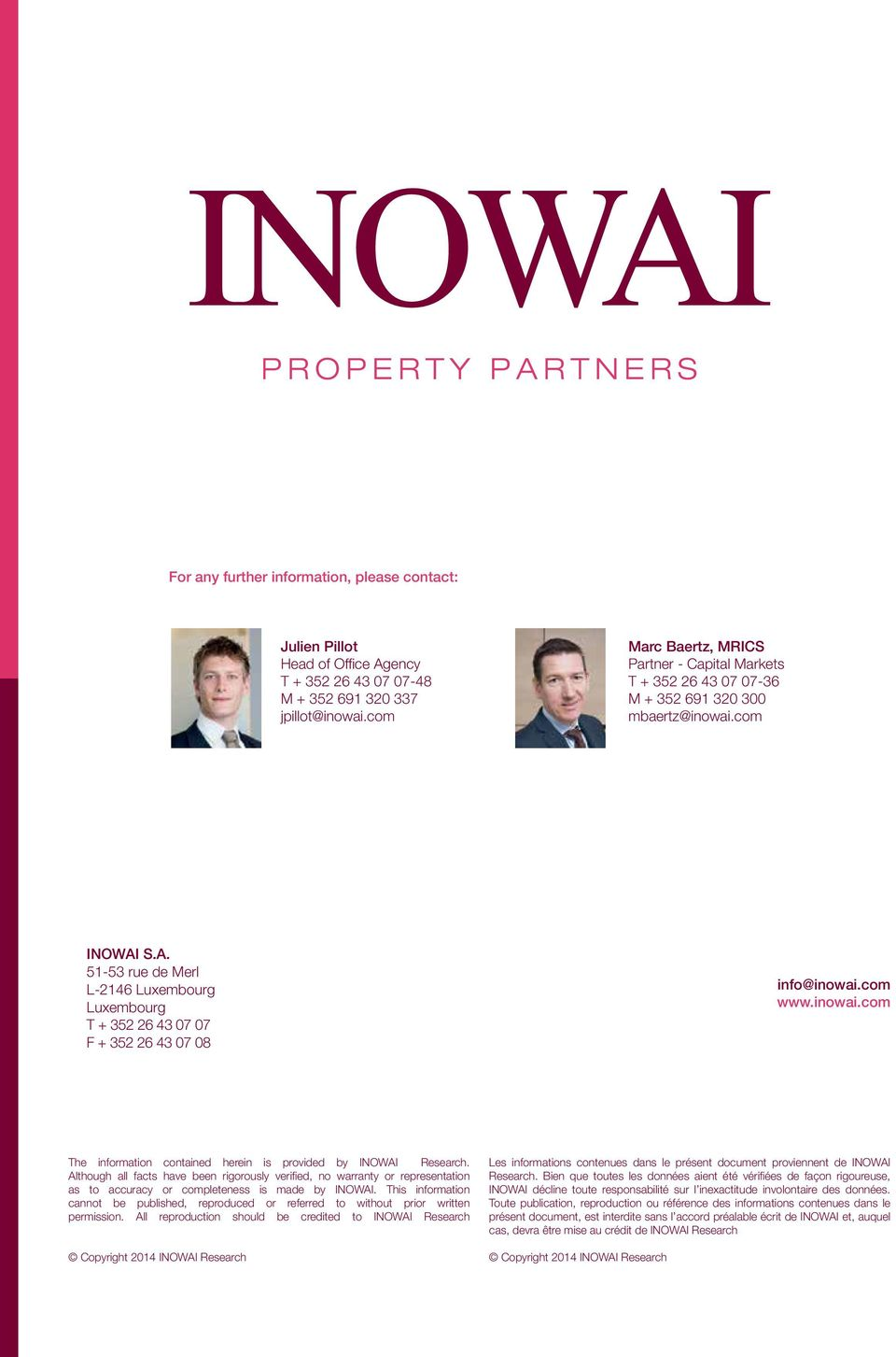 Although all facts have been rigorously verified, no warranty or representation as to accuracy or completeness is made by INOWAI.