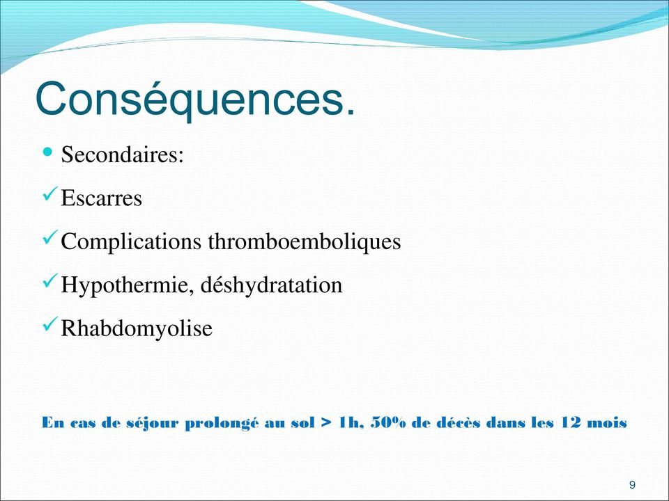 thromboemboliques Hypothermie,