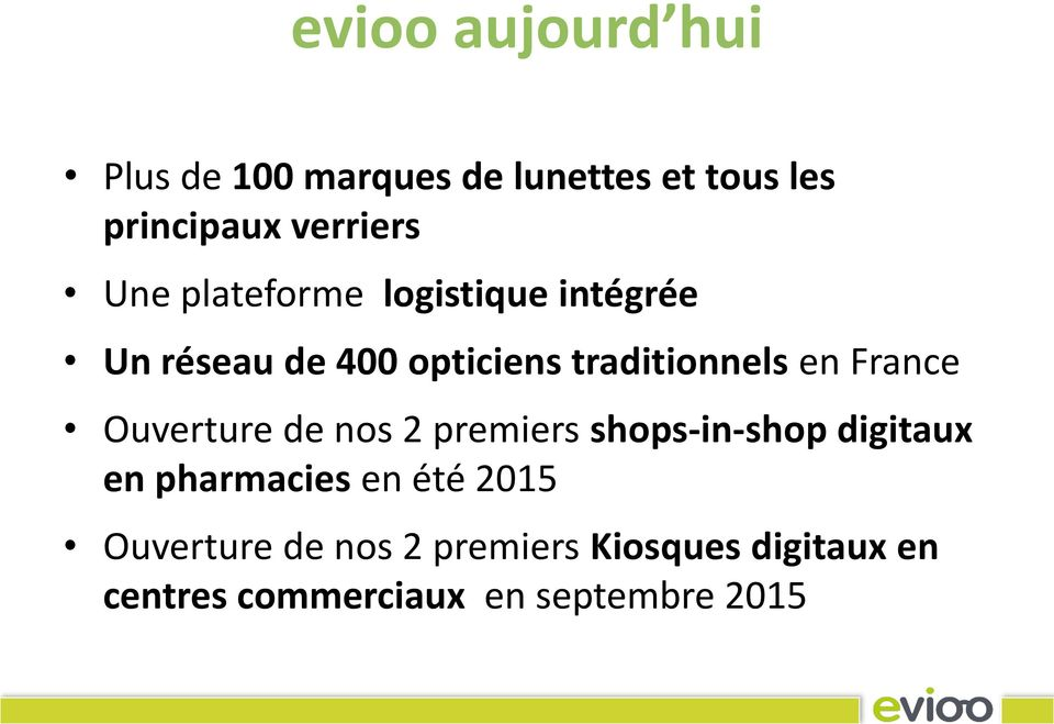 France Ouverture de nos 2 premiers shops-in-shop digitaux en pharmacies en été