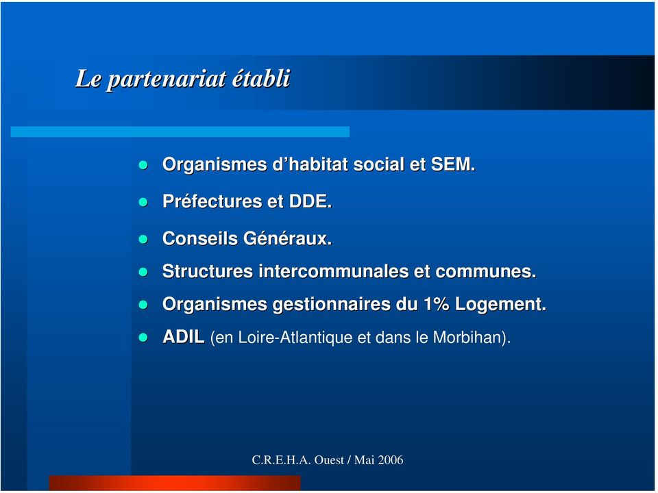 Structures intercommunales et communes.