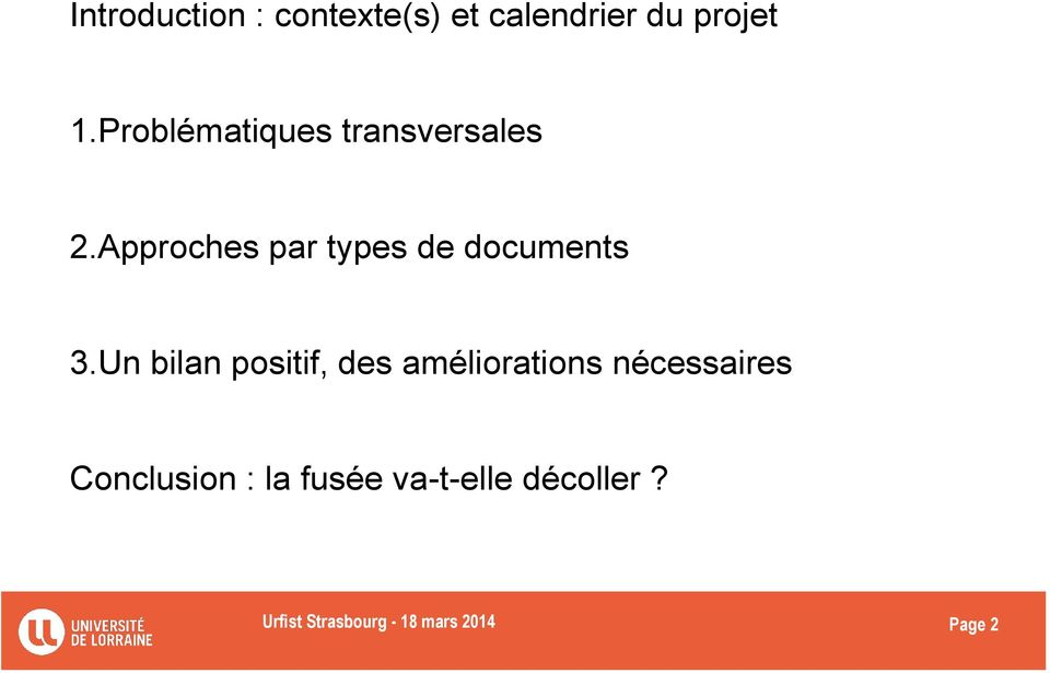 Approches par types de documents 3.