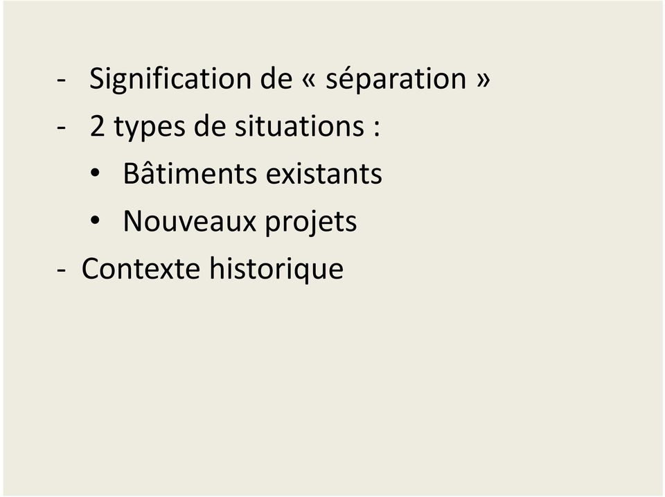 situations : Bâtiments