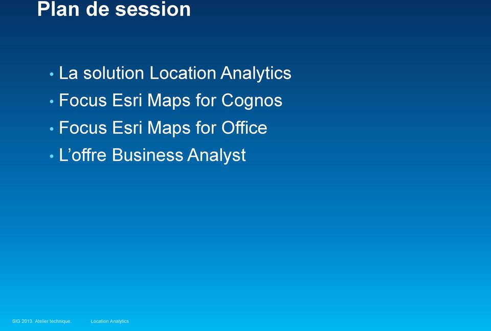 for Cognos Focus Esri Maps