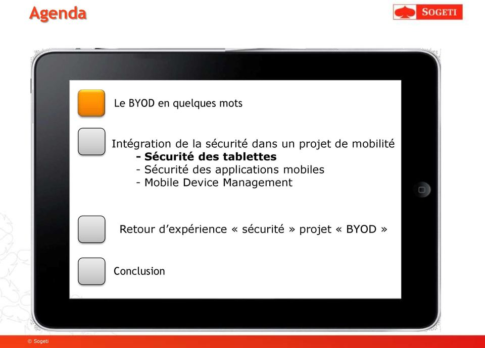 tablettes - Sécurité des applications mobiles - Mobile