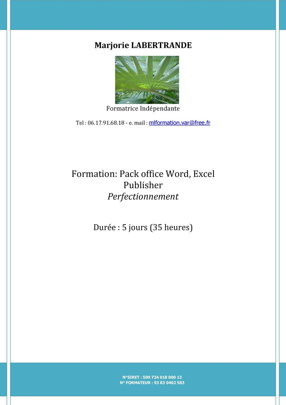 fr Formation: Pack office Word, Excel Publisher