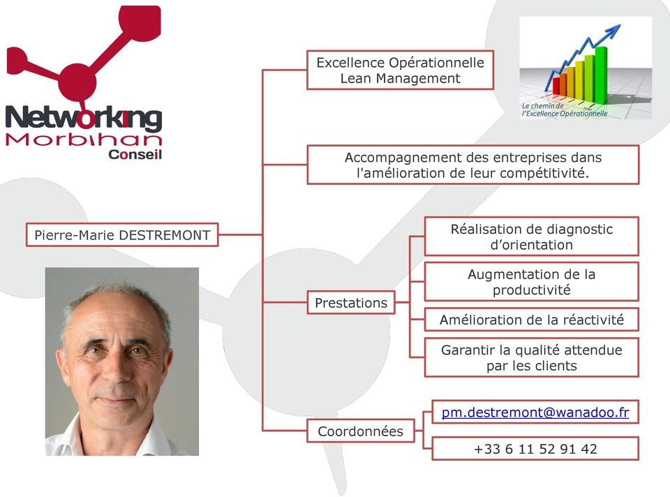 Pierre-Marie DESTREMONT Réalisation de diagnostic d orientation Augmentation de la