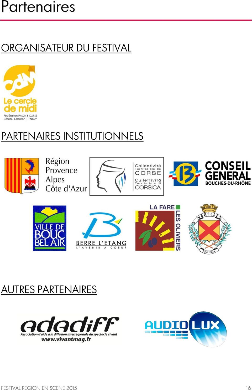 INSTITUTIONNELS AUTRES