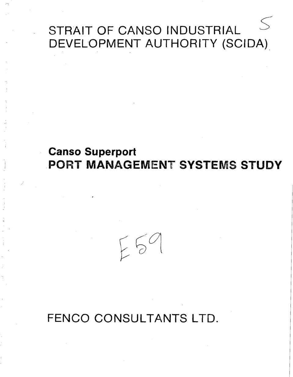 Canso Superport PORT MANAGEMENT