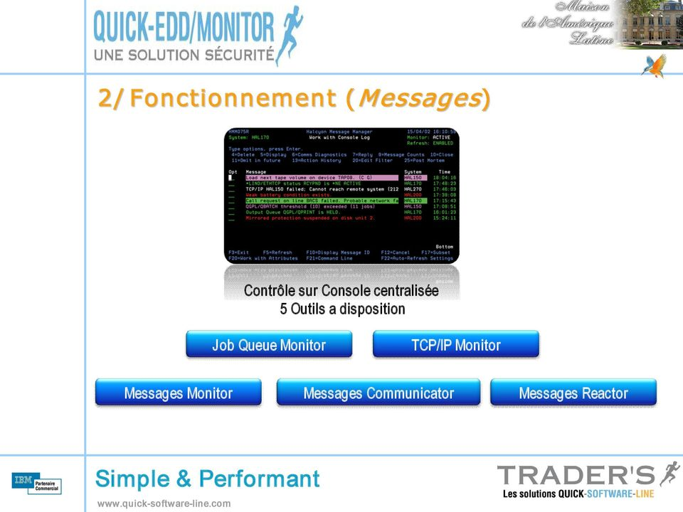 Job Queue Monitor TCP/IP Monitor Messages