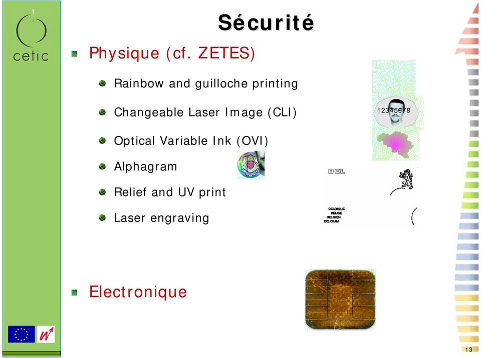 Changeable Laser Image (CLI) 12345678 Optical