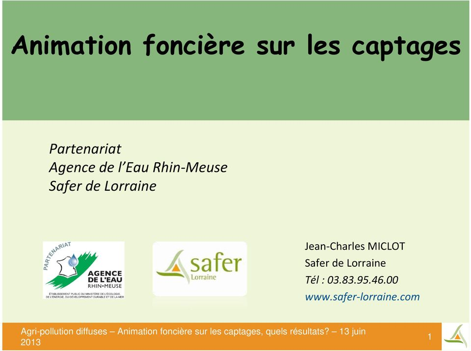 Safer de Lorraine Jean Charles MICLOT Safer