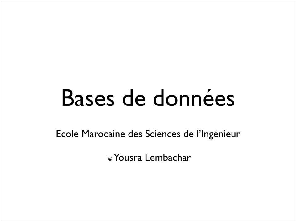 Sciences de l