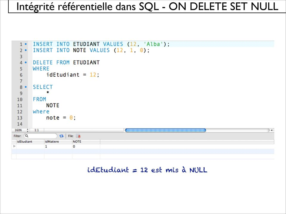 SQL - ON DELETE SET
