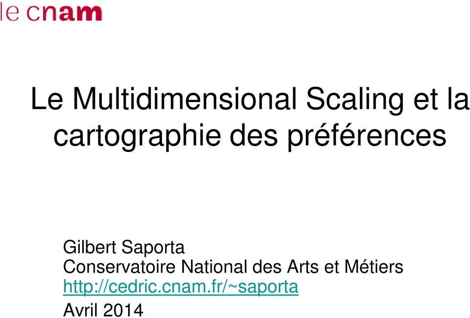 Saporta Conservatoire National des Arts