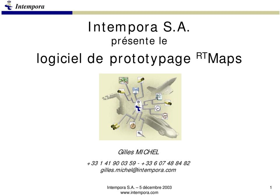 prototypage RT Maps Gilles MICHEL