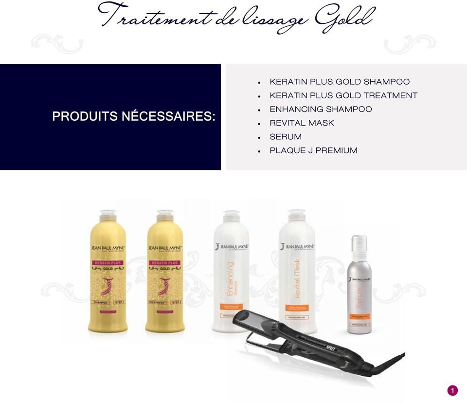 KERATIN PLUS GOLD TREATMENT ENHANCING